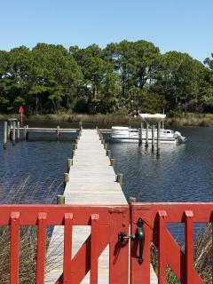 View of Boat dock/pier from pool area
