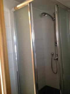 Guest House bathroom with enclosed shower