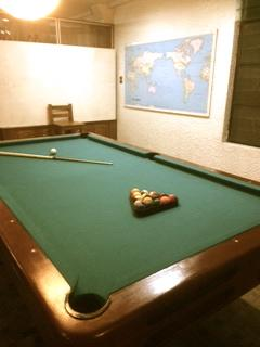 Billiards for guests' entertainment