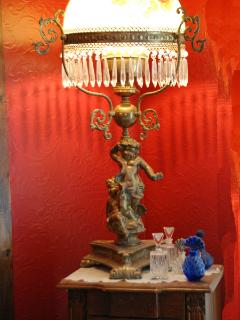 Antique lamps in the Master Suite
