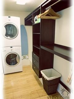 Walk in Closet with HE Washer and Dryer