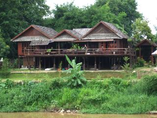 Thai traditional wooden house with western comfort