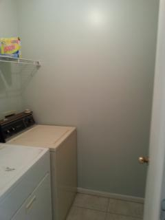 Laundry Room has FULL Size W/D