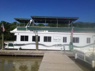 Spacious Houseboat with fishing boat in Atchafalaya Basin, perfect for everyone