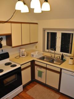 Kitchen, dishwasher, stove, refrigerator