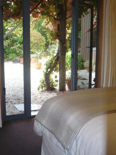 King Bed 2 - looking out onto garden courtyards