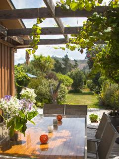 Sundown glass of wine or Breakfast in the Grapevine Courtyard