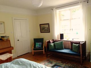 Another view of the room & comfy sofa to sit on