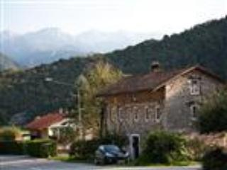 Front of house, behind is the Julian Alps