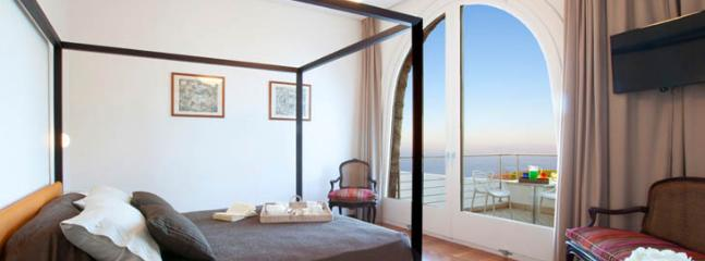 first floor, double bedroom with panoramic terrace