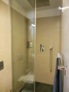 WC and walk-in shower