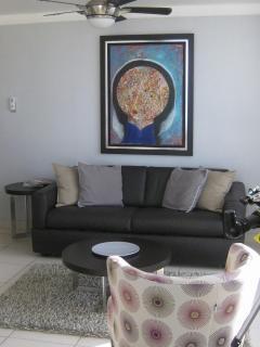 Living room. Original art work La Madonna by Alberto Ulloa