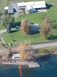 Aerial view including Lakeshore Winery