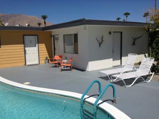 Pool deck in sun