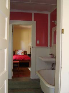 Jack & Jill Bathroom with Claw Foot Bathtub, shared with Red Room & Master Bedroom