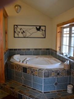 Master Bathroom with Jacuzzi Tub (shower is in the downstairs bathroom)