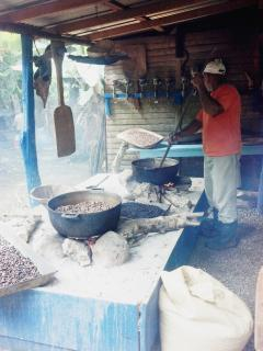 'Bavaro Runner' Excursion - roasting coffee and cocoa beans