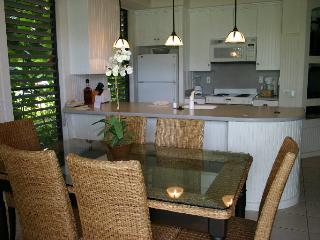 Kitchen table, breakfast nook, and kitchen