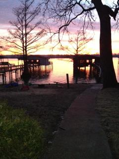 Sunset off private dock