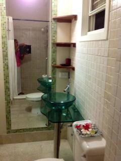 The bathroom is beautiful