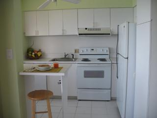 Kitchen with Breakfast Nook, Full Size Refridgerator, Stove, Microwave & W/D Combo