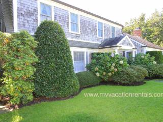 WALSJ - Beautiful gardens in private setting, a classic Edgartown Village home w