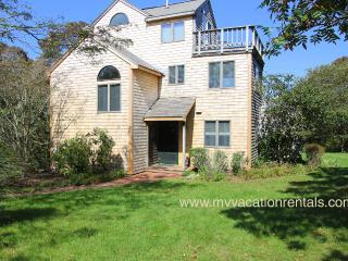 KINNE - Easy Breezy Vacation Home with Distant Waterview,  Tri-Level Living Spaces, Multiple Decks, Large Private Yard, Aquinnah