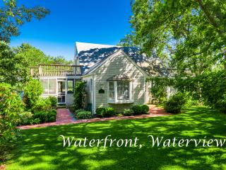 PETEV - Waterfront Private Family Oriented Community, Gorgeous Water Views, Private Association Tennis Courts, AC, Wi-fi, Bike Paths Nearby, Oak Bluffs