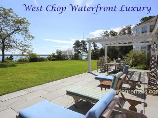 FIELR - Exquisite West Chop Waterfron Home, Panoramic Ocean Views, Beach, Less, Vineyard Haven