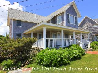 SAMAJ - Gorgeous Ocean View Cottage Home, Ink Well Beach Across Street, Walk to, Oak Bluffs