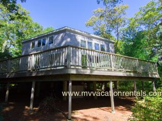 SCHEB - Waterfront on Ice House Pond (Old House Pond),  Swim, Kayak, Spacious Deck with Lovely Views. 15 Minute Walk or 3 Min Drive to  Lambert's Cove Beach, West Tisbury