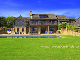 TREVS - Stunning, New Oceanview Luxury Home, Private Association Beach Rights,  Solar Heated Pool, Chilmark