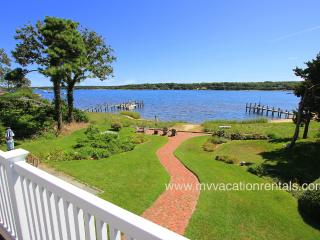 BROWN - Waterfront on the Lagoon, Spectacular Views,  Tri-Level Home, Multiple, Vineyard Haven