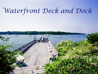 KERR4 -  Sophisticated and Charming Waterfront Cottage, Large Waterfront Deck, Dock, Tennis Court, Spectacular Views, Vineyard Haven