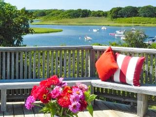 ALDEN - Picturesque Stone Wall Pond Waterfront, Walk to Private Association Beach, 5 minute Drive to Lucy Vincent Beach,  AC, Chilmark