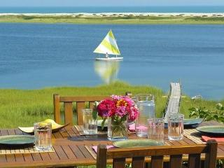 ALDEM -  Gorgeous Waterfront Home, $500 discount June weeks,   Magnificent Views of the Atlantic,  Great Kayaking, Walk to Private Association Stonewall Beach, Hi Speed Internet, Mooring for 40 foot boat, Chilmark