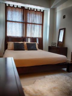 Master bedroom, queen size bed with memory foam mattress