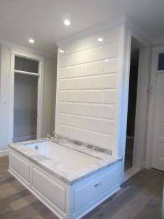 Master bath with large spa shower