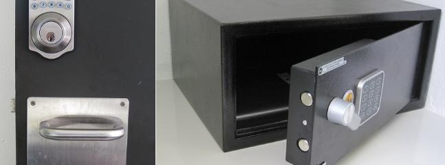 Digital Door Lock and Laptop-Size Safe
