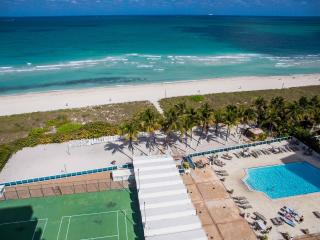 OCEANFRONT BLDG, DELUXE 2BR+2BR, PRIVATE BEACH, GYM, TENNIS COURT, BEACH SERVICE