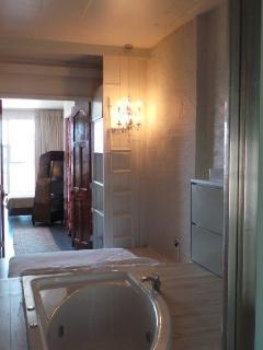 Bathroom shot threw studios