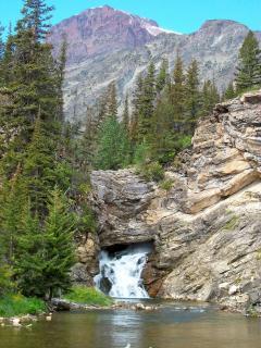 Trick Falls near Two Medicine Lake in Glacier National Park.