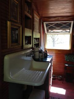 Kitchen ... great-grandmother's original sink.