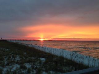 Beautiful Sunrise Over the Pier