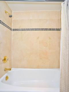 Detail of shower in traditional bath