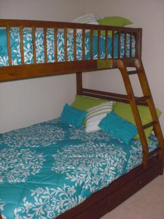 Second bedroom is perfect for kids. It has a twin/full bunk bed.