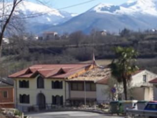 Front view with Apennine Mountains in background