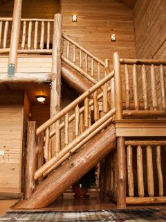 Stairs to the loft level