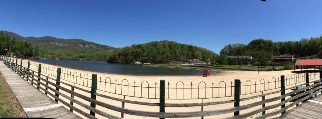 Lake Lure beach (12 minutes away)