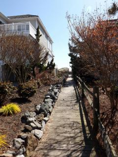 Entryway to the beach.  Soon luscious flowers will be blooming!